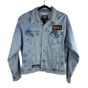 HARLEY DAVIDSON Mens Sz XL Blue Jean Denim Fashion